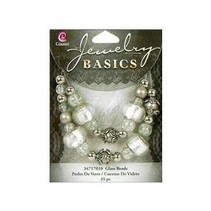 Jewellery craft set with glass beads and antique silver