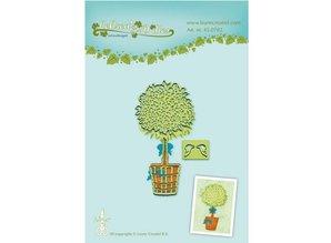 Leane Creatief - Lea'bilities Stempling og prægning stencil, træ i potten