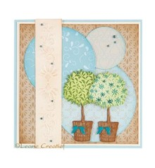 Leane Creatief - Lea'bilities Stampaggio e goffratura stencil, albero in vaso