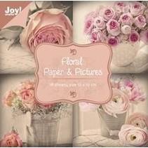 Bloque diseñador, floral con motivos de rosas