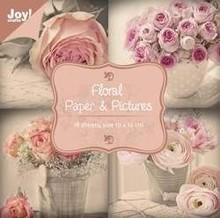 Joy!Crafts und JM Creation Designer Block, floreale con motivi di rose