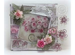 Joy!Crafts und JM Creation Designer Block, Floral with rose motifs