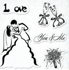 "Stempel / Stamp: Transparent I timbri trasparenti set, Wedding ""You & Me"""