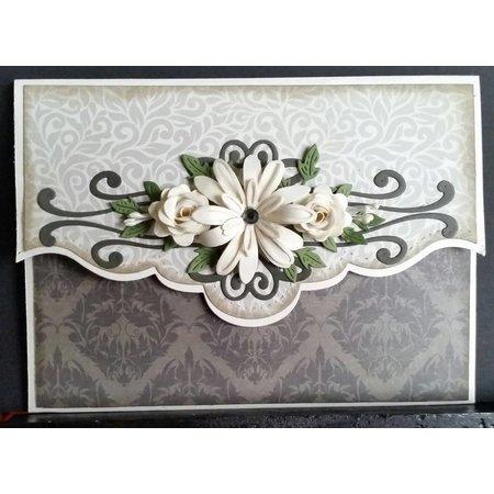 Creative Expressions Stempling og prægning stencil, blomster