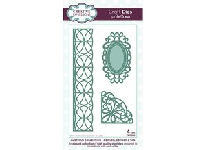 Creative Expressions Punching and embossing stencil Filigree border, Label and Area