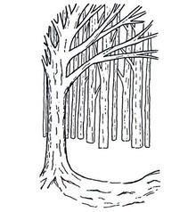 Creative Expressions Timbri, sfondo Albero