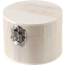 Holzdose rond 9,5x7cm