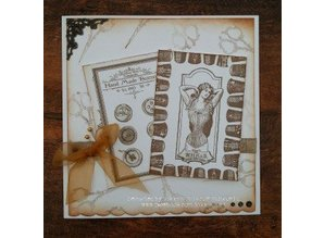 IndigoBlu Stamp A5: Sewing mends the soul, 200x140mm