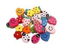 Kinder Bastelsets / Kids Craft Kits Børns Smykker: træ perler med smilies og andre motiver