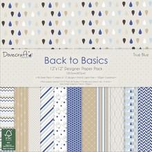 Designer Papier Scrapbooking: 30,5 x 30,5 cm Papier Designerblock, True Blue