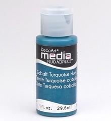 FARBE / INK / CHALKS ... DecoArt acrilici fluidi media, cobalto Turchese Hue