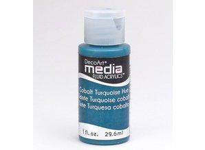 FARBE / INK / CHALKS ... DecoArt media fluid acrylics, Cobalt Turquoise Hue
