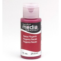 DecoArt media Fluid acrylics, Primary Magenta