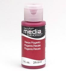 FARBE / INK / CHALKS ... DecoArt acrilici fluido dei media, primaria Magenta