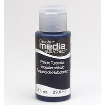Decoart acrílicos fluidos medios, Phthalo turquesa