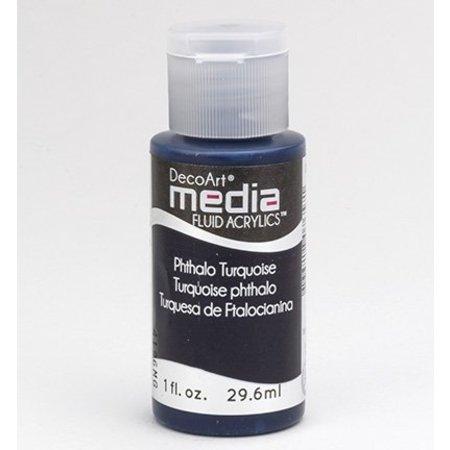 FARBE / INK / CHALKS ... DecoArt media Fluid acrylics, Phthalo Turquoise
