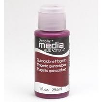 Decoart acrílicos fluidos medios, Quinacronde Magenta