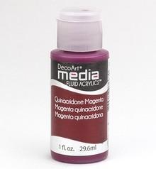 FARBE / INK / CHALKS ... DecoArt acrilici fluido dei media, Quinacronde Magenta
