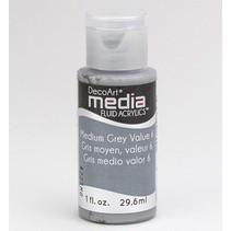 Decoart acrílicos fluidos de comunicación, medio gris