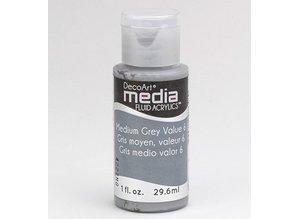 FARBE / INK / CHALKS ... DecoArt medier væske akryl, Medium Grey
