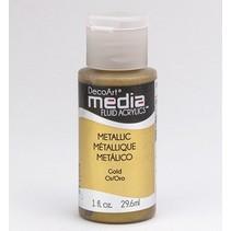 Decoart acrílicos fluidos medios, oro metálico