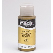 DecoArt media Fluid acrylics, Metallic Gold
