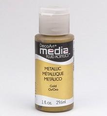 FARBE / INK / CHALKS ... DecoArt acrilici fluido dei media, Metallic Gold
