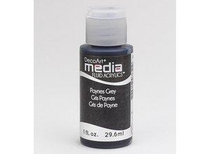 FARBE / INK / CHALKS ... DecoArt media fluid acrylics, Payne's Grey