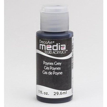 FARBE / INK / CHALKS ... DecoArt medier væske akryl, Payne s Grå