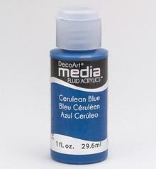 FARBE / INK / CHALKS ... DecoArt media Fluid acrylics, Cerulean Blue