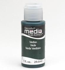 FARBE / INK / CHALKS ... DecoArt acrilici fluidi media, Viridian verde Hue