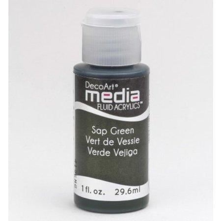 FARBE / INK / CHALKS ... DecoArt media Fluid acrylics, Sap Green