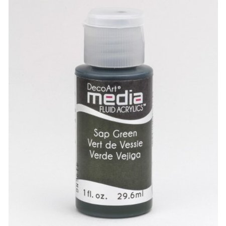 FARBE / INK / CHALKS ... DecoArt medier væske akryl, Sap Green