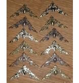 Embellishments / Verzierungen 12 adornos de metal