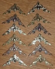Embellishments / Verzierungen 12 metal ornaments