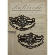 2 Elegante maniglie in metallo bronzo,