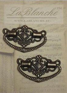 Embellishments / Verzierungen 2 Elegant metal handles bronze,