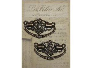 Embellishments / Verzierungen 2 Elegante maniglie in metallo bronzo,