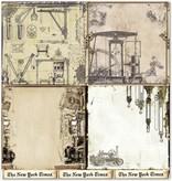 "Designer Papier Scrapbooking: 30,5 x 30,5 cm Papier Design papir ""Baggrund"" 3"