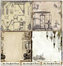 """Designer Papier Scrapbooking: 30,5 x 30,5 cm Papier Designpapier """"Background"""" 3"""
