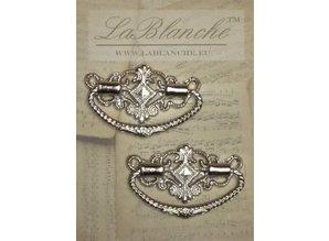 Embellishments / Verzierungen 2 Elegant metal handles, silver