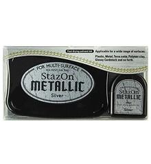 FARBE / INK / CHALKS ... inchiostro timbro stazon, argento metallizzato