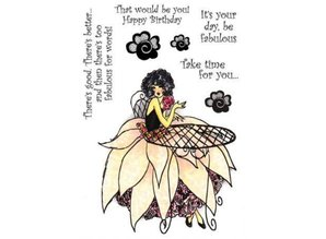 Crafter's Companion A6 Frou Frou Unmounted Rubber Stamp Set Designer - glitz and glamor