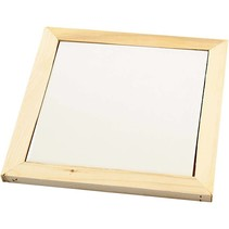 Coasters made of white porcelain with wood frame
