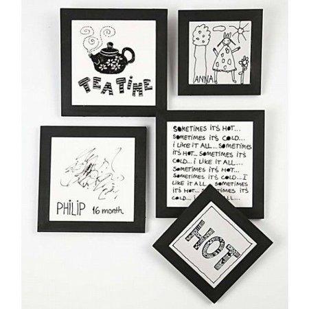 Objekten zum Dekorieren / objects for decorating Coastere lavet af hvidt porcelæn med træramme