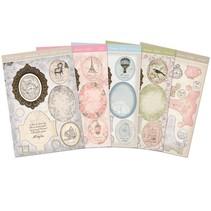 Kartenbastelset: Antique Chic, kort med ramme