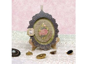 Exlusiv Kartenbastelset: Antique Chic, cards with frame