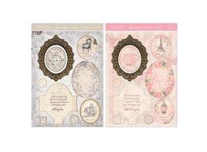 Exlusiv Kartenbastelset: Antique Chic, kort med ramme