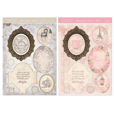 Exlusiv Kartenbastelset: Antique Chic, tarjetas con marco