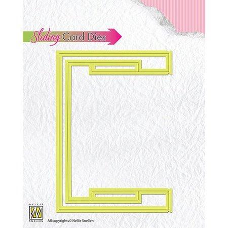 Nellie snellen plantillas de punzonado y estampado en relieve: correderas tarjetas / BÁSICO deslizante de la parte